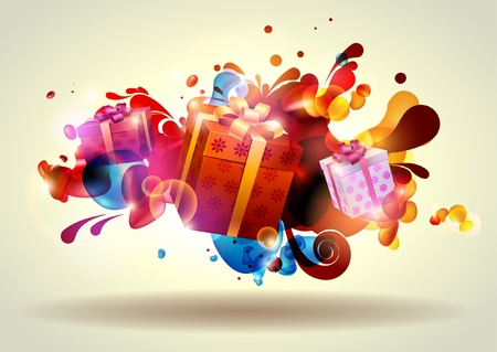 magic box: Christmas gifts   Illustration