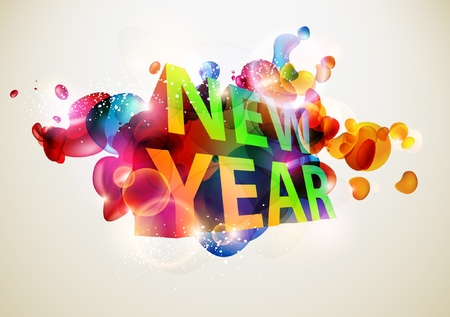New Year 3d Stock Vector - 13132290