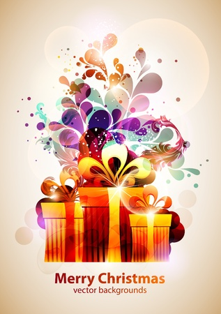 Christmas gifts  New year vector  Stock Vector - 13132305