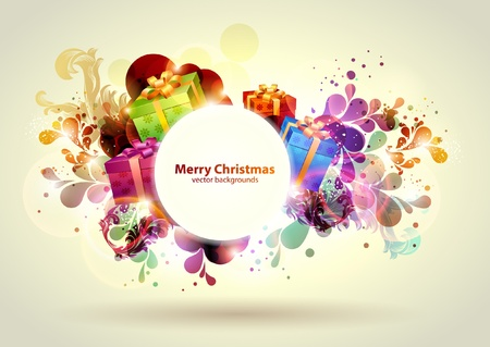 Christmas design with gifts Vector
