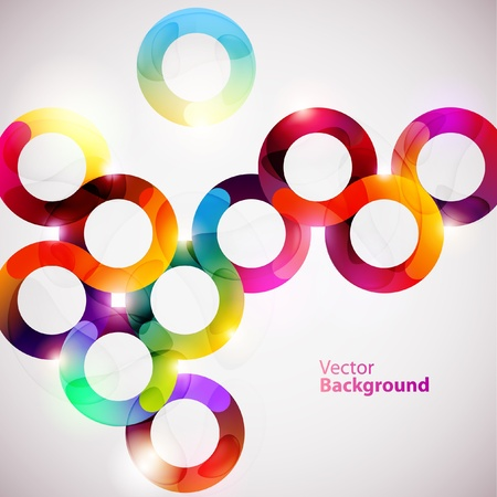 circle design: Abstract colorful wave