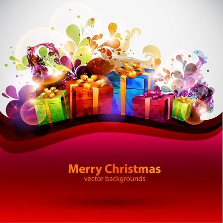 cartoon christmas tree: Christmas background