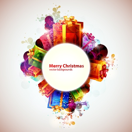 red gift box: Christmas banner
