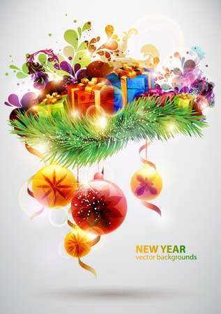 New Year poster Stock Vector - 13091693