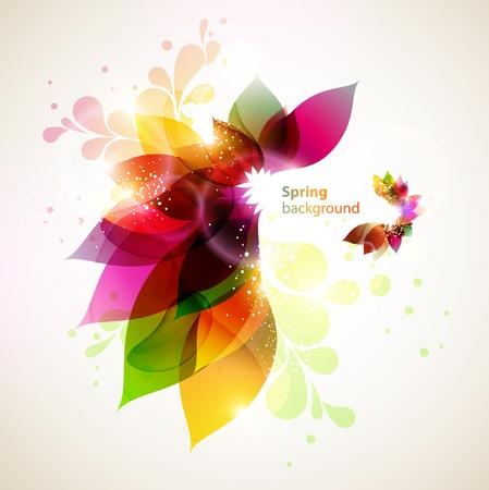 花の抽象的な背景  イラスト・ベクター素材
