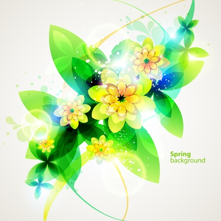 Floral abstract background  Stock Vector - 13132510