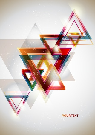 triangle shape: Background of geometric shapes Illustration