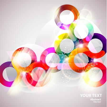 abstrakcje: Kolorowe bąbelki Ilustracja