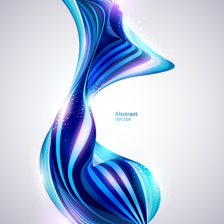 ellipses: Abstract blue form