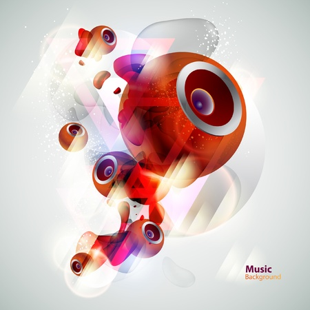 Red abstract Loudspeakers Vector