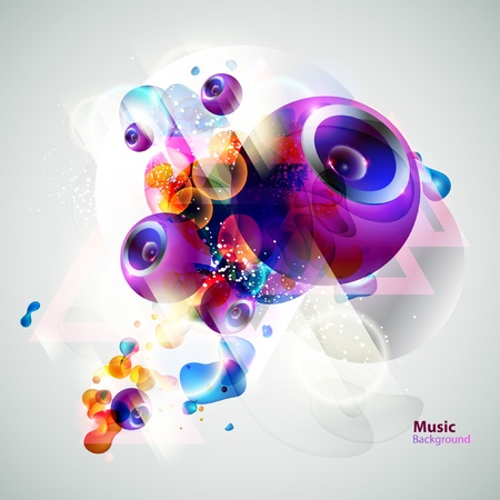 abstract dance: Vector speakers design Illustration