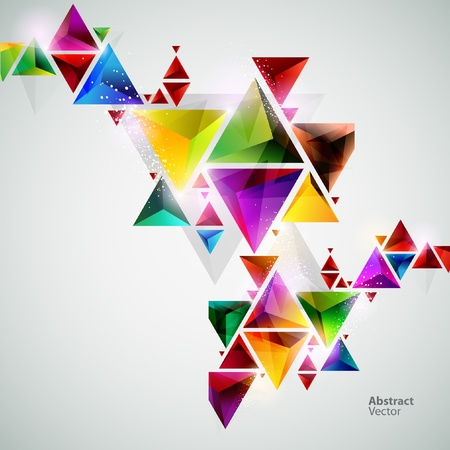 kształt: Kolorowe trójkąty Ilustracja