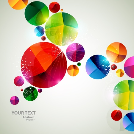 Colorful art bubbles Vector