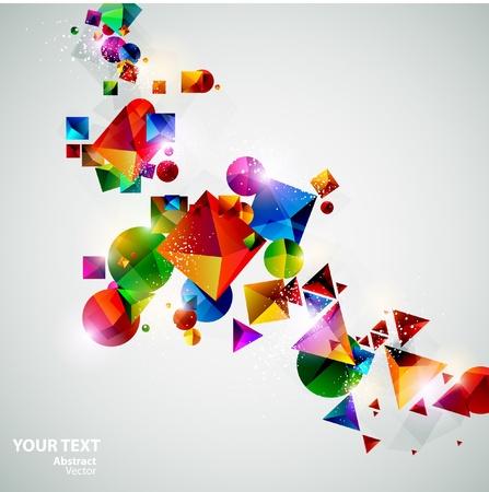 forme: Compositions de formes géométriques colorées
