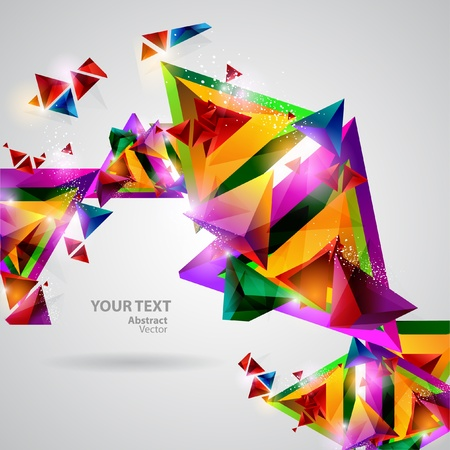 Background of geometric shapes Stock Vector - 13132482