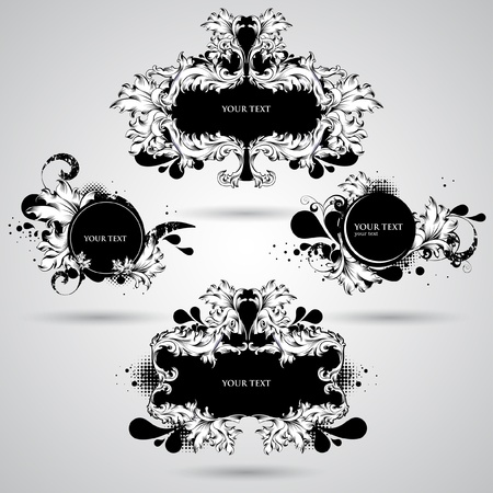Abstract decoration elements Vector