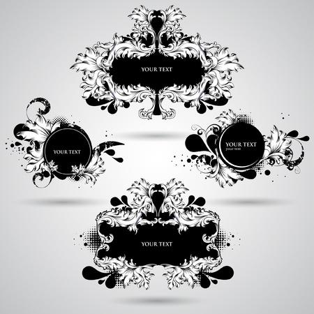 filigree: Abstracte decoratie-elementen