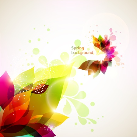 artistic flower: Floral abstract background