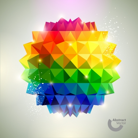 rainbow sphere: 3D Colorful ball