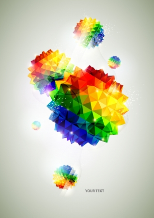 3D colorful balls Vector