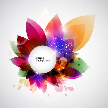 twirls: Floral abstract background