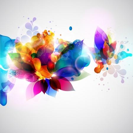 디지털: 꽃 추상적 인 배경