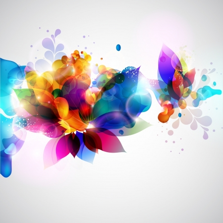 graphics design: Floral abstract background