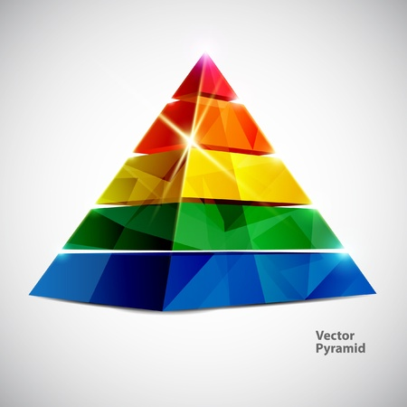Colorful pyramid  Vector