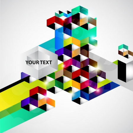 Geometric colorful background Illustration