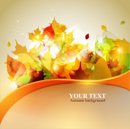 yellow leaves: Autumn yellow background with place for text