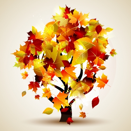 Colorful autumn tree Vector