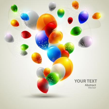 celebration background: Colorful vector balloons  Illustration