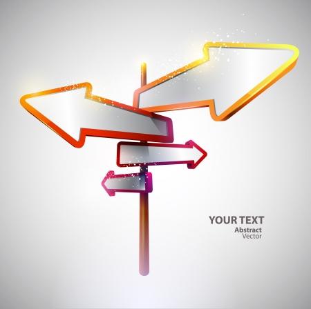 Verkeersborden van verschillende kleuren Vector Illustratie