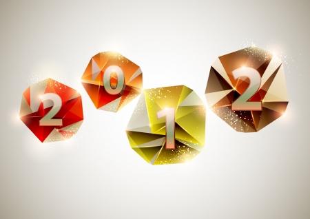 New year 2012 Stock Vector - 14479329