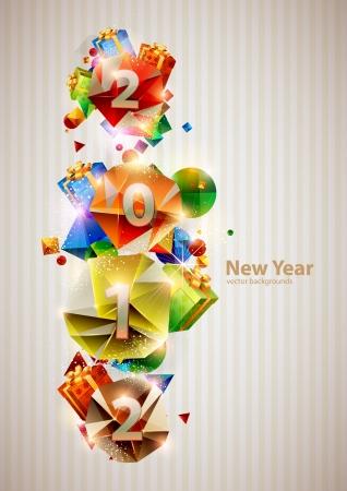 New year 2012 Stock Vector - 14479358