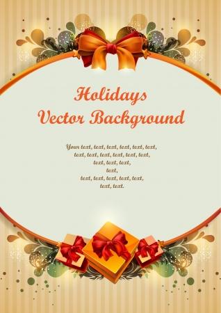 Vintage holiday vector  Vector