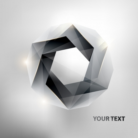 Abstract geometric form  Vector
