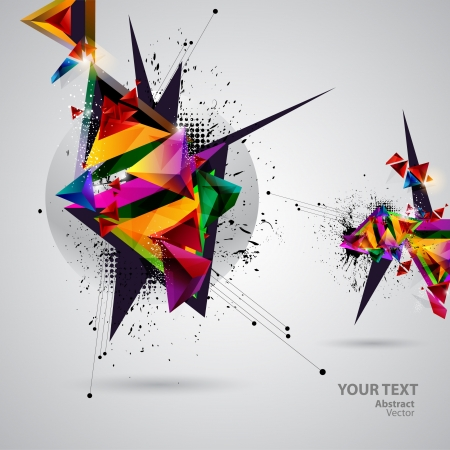 digital art: Abstract colorful background