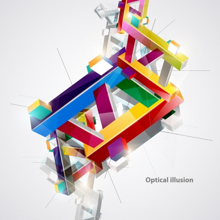 Optical colorful illusion  Vector