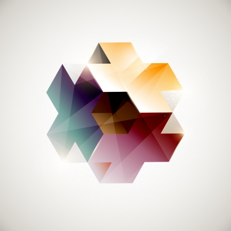 Abstract color geometric form  Vector