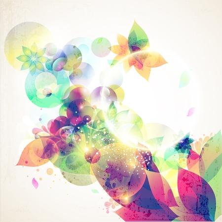 artistic flower: Floral background