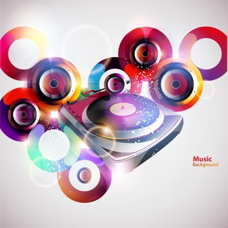 trance: Turntable   loudspeakers