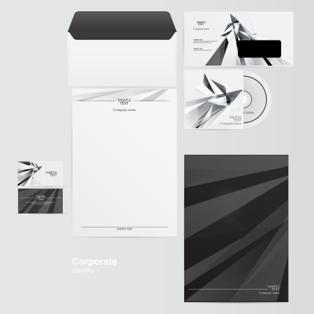 Corporate identity kit Vector