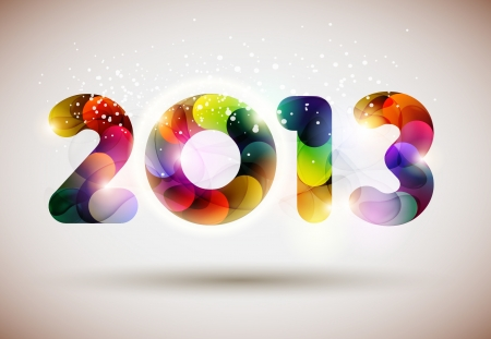 Happy new year 2013 Stock Vector - 15455689