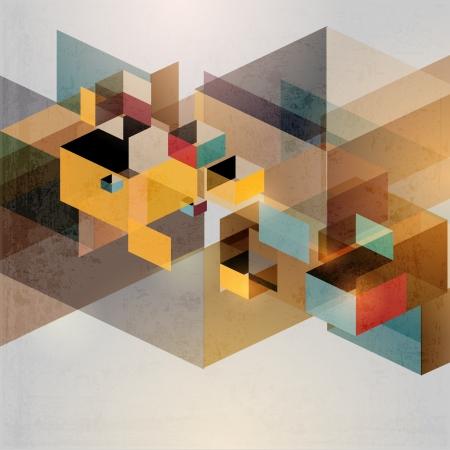 forme: Rétro fond géométrique Illustration