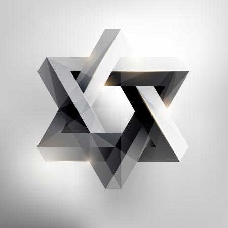 estrella de david: Forma geométrica abstracta