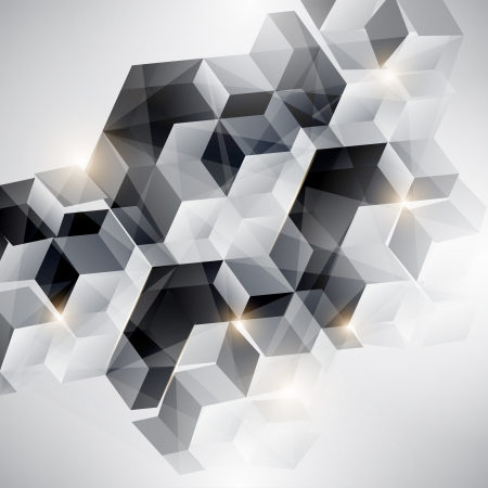 blake and white: Abstract geometric background