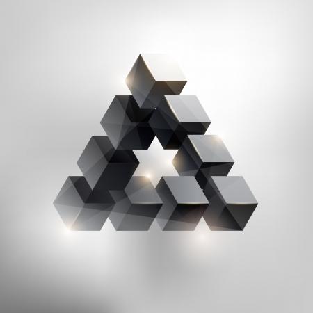 삼각형: 착시 일러스트