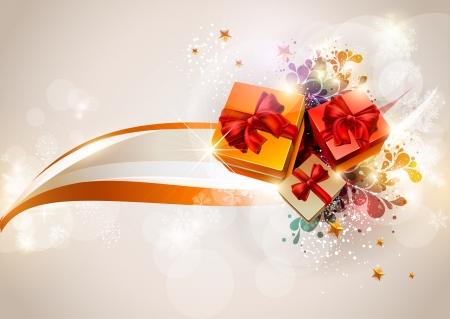 new yea: Christmas background