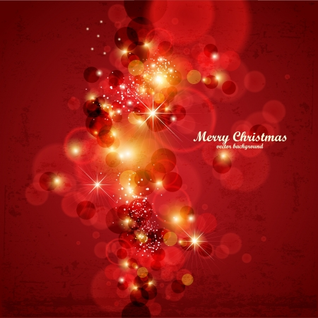 Red Abstract Christmas  background